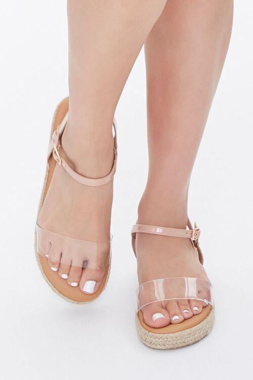 Clear-Strap Espadrille Flatform Sandals, image 4