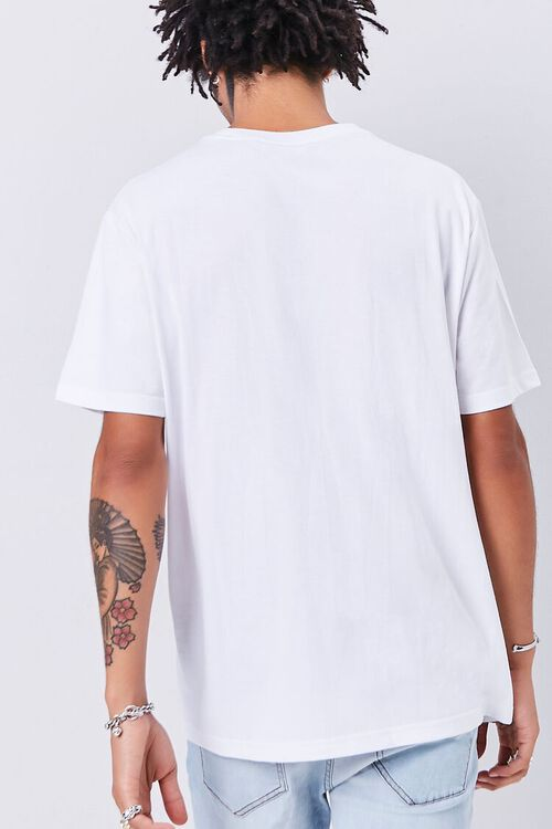 WHITE/RED Rose Embroidered Graphic Tee, image 3