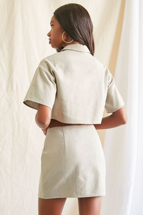 Linen-Blend Shirt & Skirt Set, image 3