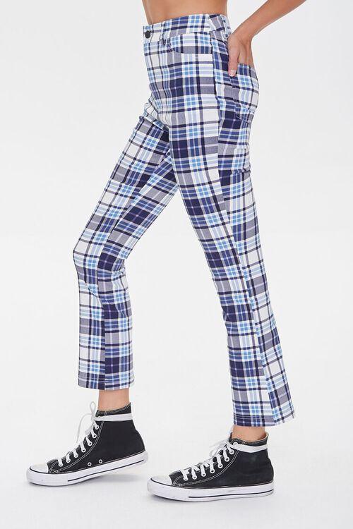 BLUE/MULTI Plaid Flare Ankle Pants, image 4
