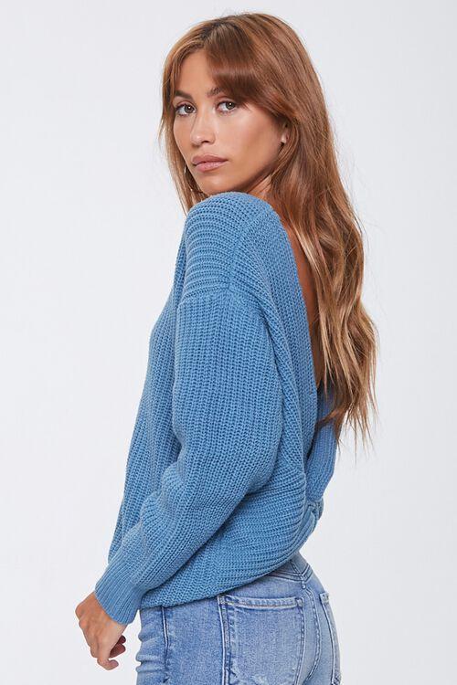Ribbed Twisted-Back Sweater, image 2
