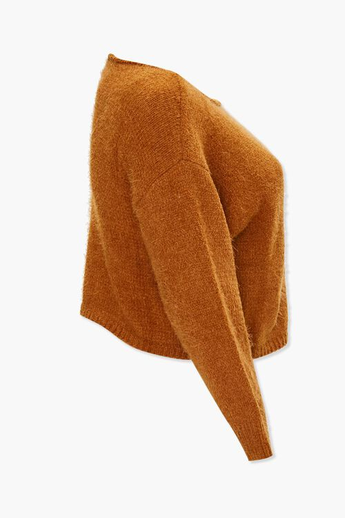 Plus Size Fuzzy Knit Sweater, image 2
