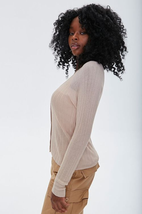 Ribbed Cardigan Sweater, image 2