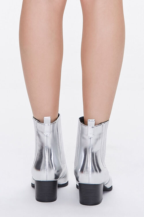 Faux Leather Pointed Toe Booties, image 3