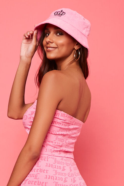 PINK/MULTI Juicy Couture Graphic Tube Top, image 3