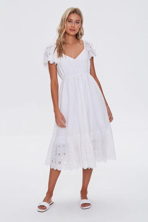 Cotton Floral Eyelet Dress, image 4
