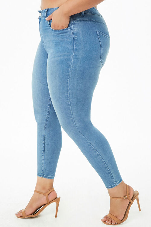 Plus Size Sculpted Mid-Rise Skinny Jeans, image 3