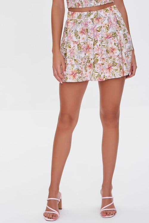 Floral Print Mini Skirt, image 2