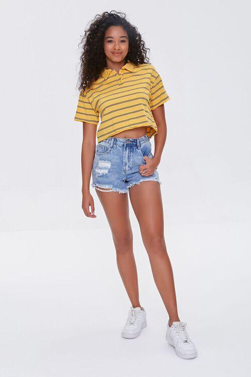 MUSTARD/MULTI Striped Polo Shirt, image 4