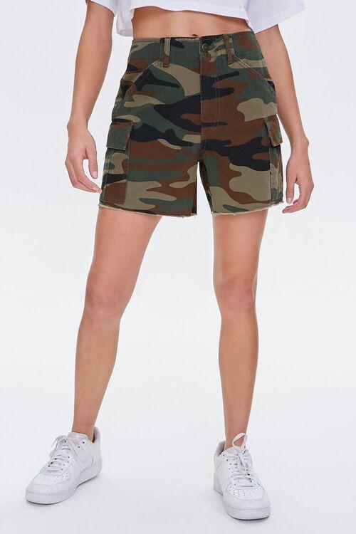 OLIVE/MULTI Camo Cargo Shorts, image 2