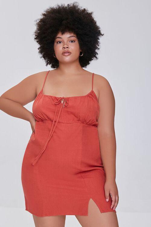 RUST Plus Size Sheath Cami Mini Dress, image 5