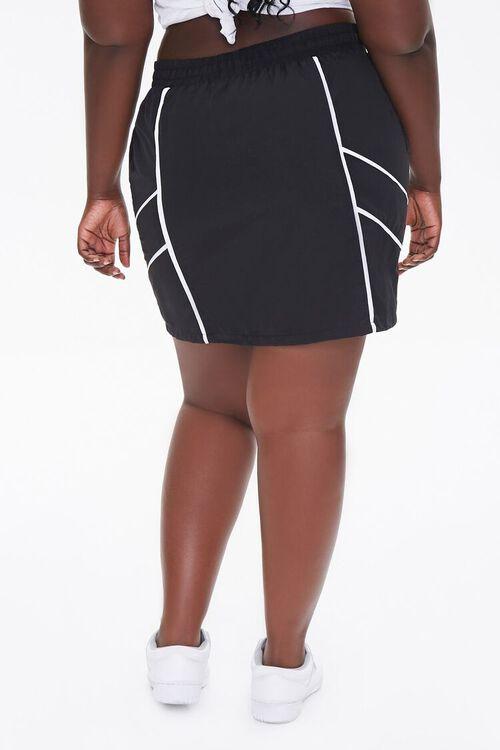 Plus Size Drawstring Mini Skirt, image 4