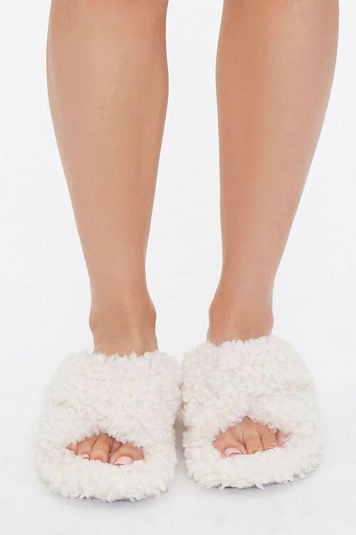 Fuzzy Faux Sheepskin Slippers, image 4