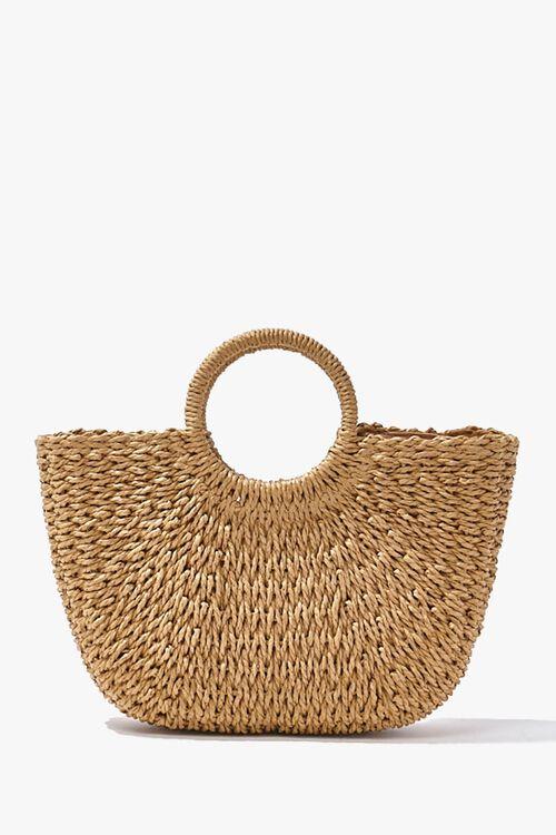 Straw Basketwoven Tote Bag, image 4