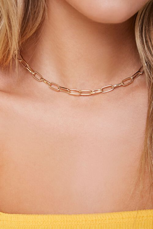 Chunky Anchor Chain Necklace, image 1