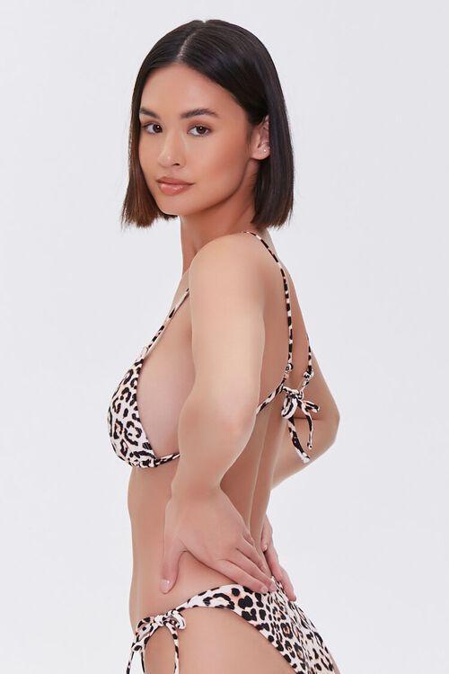 TAN/BLACK Leopard Print Bikini Top, image 2