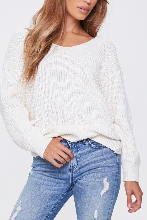 Ribbed Twisted-Back Sweater, image 4