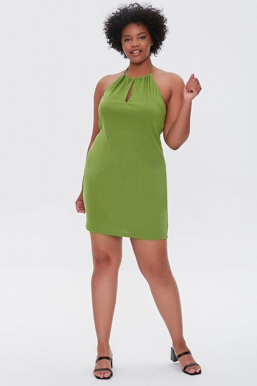 Plus Size Halter Mini Dress, image 4
