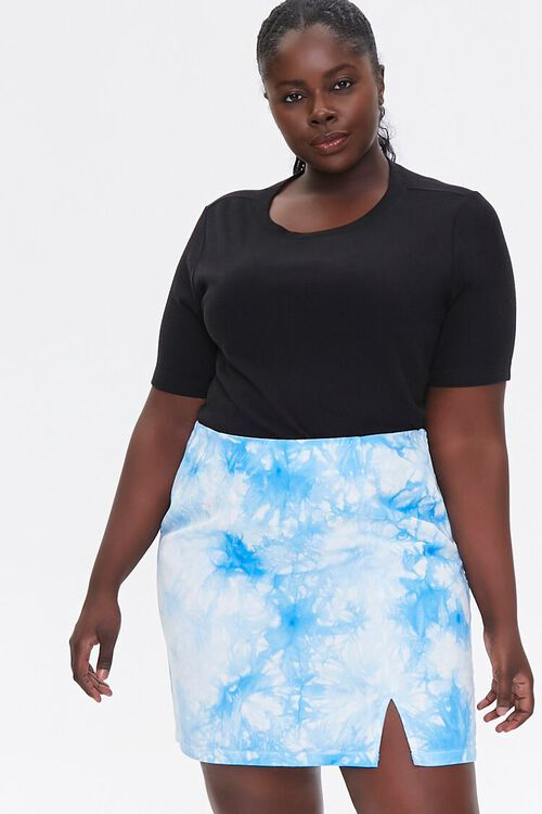 Plus Size Tie-Dye Mini Skirt, image 1