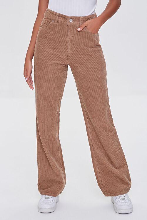 TAN Ribbed Relaxed Pants, image 2