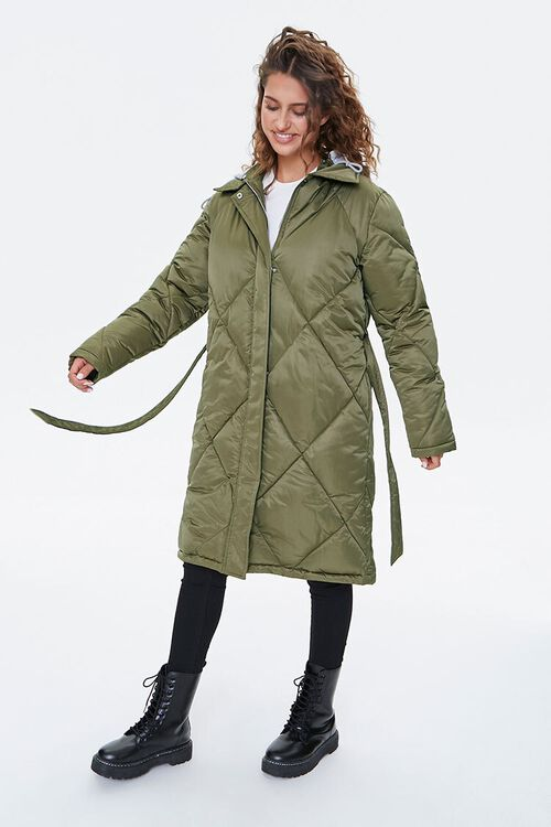 Longline Quilted Puffer Jacket, image 2