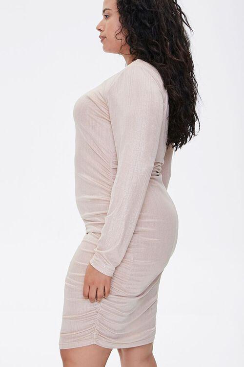 Plus Size Metallic Bodycon Dress, image 2