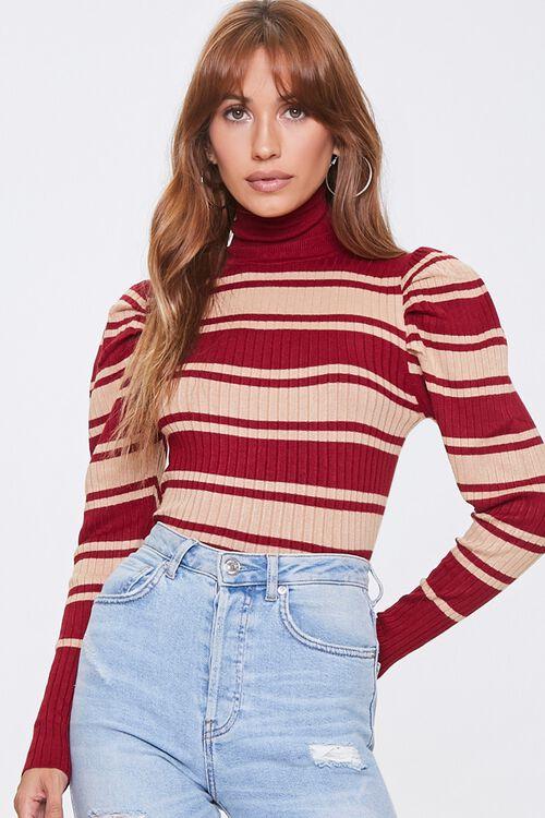 Striped Turtleneck Sweater, image 1