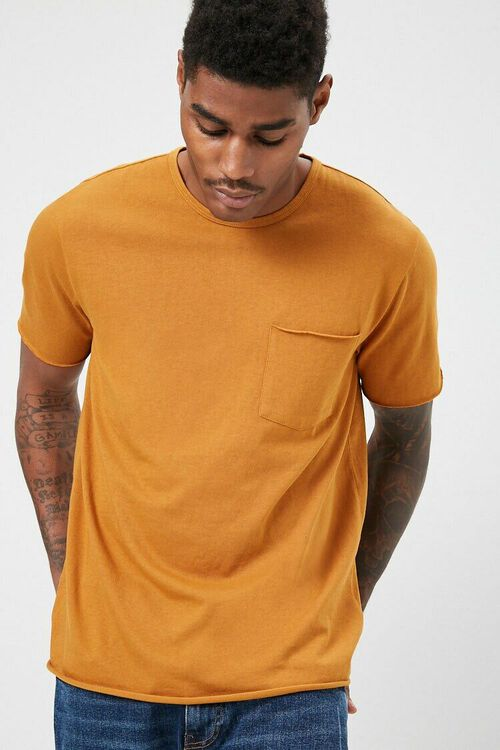 Rolled-Trim Knit Tee, image 1