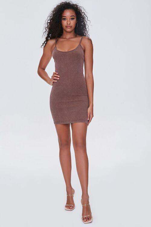 CHOCOLATE Seamless Ribbed Cami Mini Dress, image 4