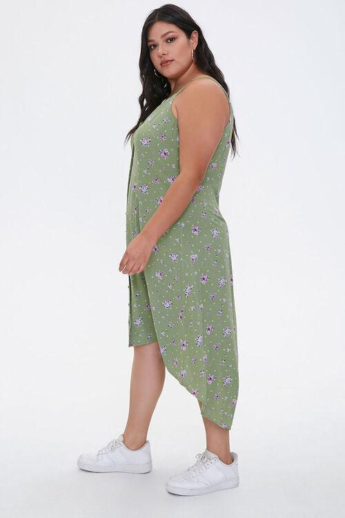 Plus Size Floral High-Low Dress, image 2