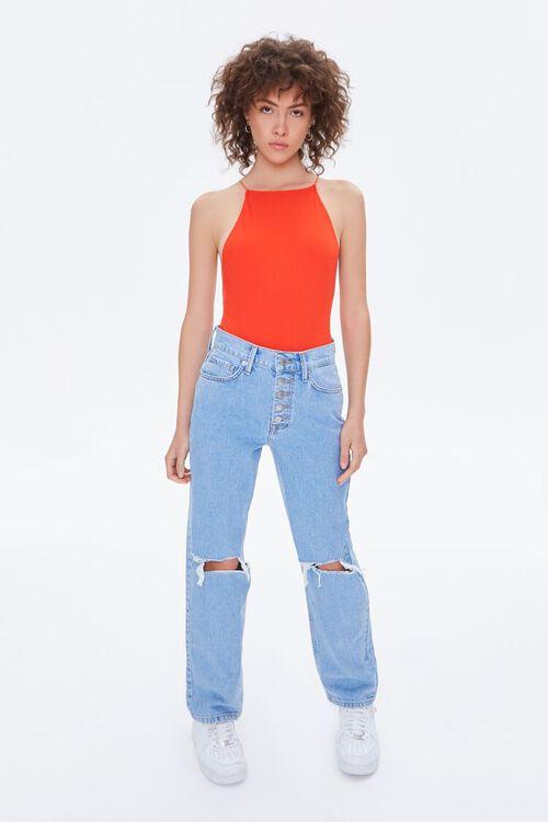 Seamless Ribbed Cami Bodysuit, image 4