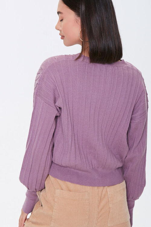 Ribbed Buttoned Cardigan, image 3