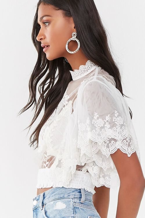 Sheer Embroidered Top, image 2