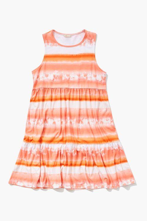 PINK/MULTI Girls Striped Cloud Wash Dress (Kids), image 1