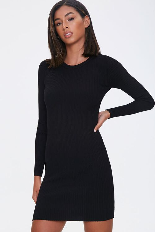 Sweater-Knit Mini Dress, image 1
