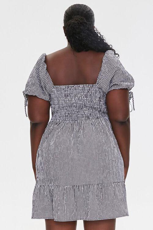 Plus Size Gingham Mini Dress, image 3