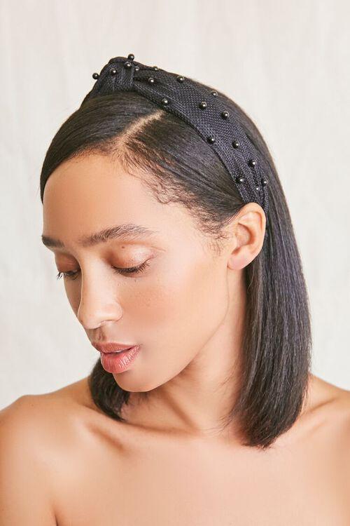 Bead-Embellished Knotted Headband, image 1