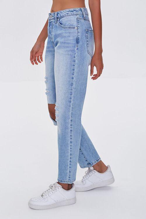 LIGHT DENIM Premium Distressed Boyfriend Jeans, image 3