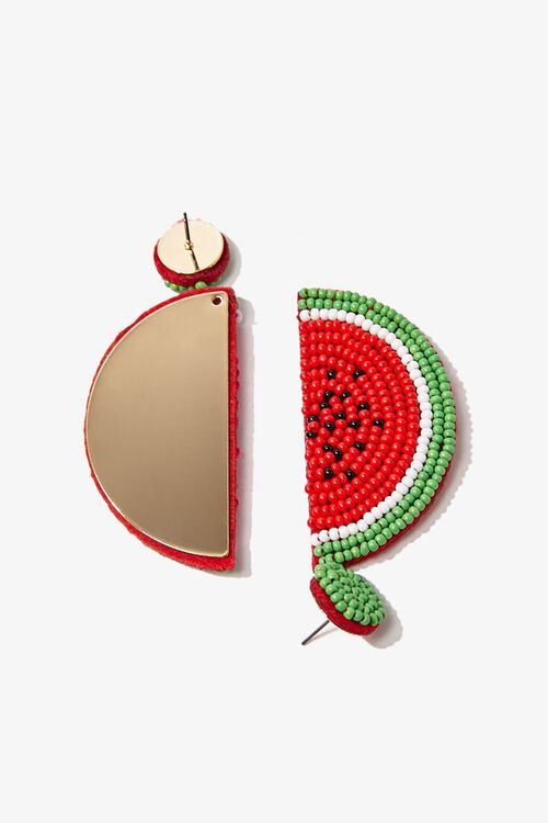 Beaded Watermelon Drop Earrings, image 3