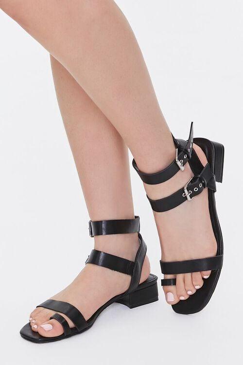 Caged Block Heel Sandals, image 1
