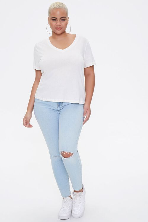 Plus Size Cotton-Blend Tee, image 4