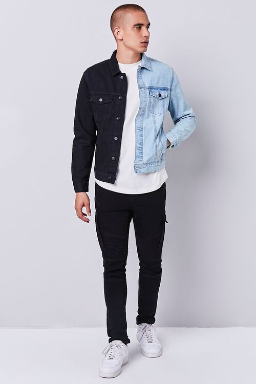 DENIM WASHED/BLACK Reworked Denim Jacket, image 4