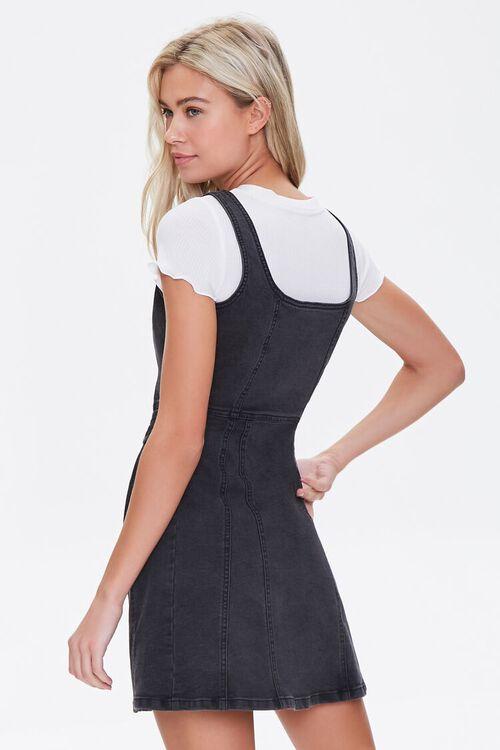 Denim Pinafore Mini Dress, image 3
