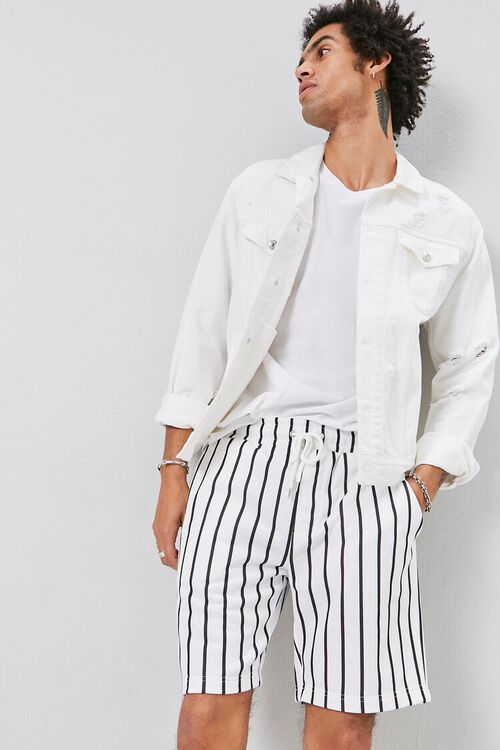 Pinstriped Drawstring Shorts, image 1