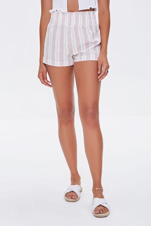 Striped Paperbag Shorts, image 2