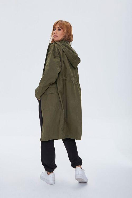 Drawstring Hooded Longline Jacket, image 3