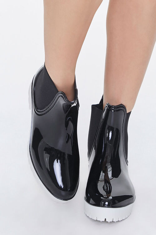 Faux Patent Leather Chelsea Boots, image 4