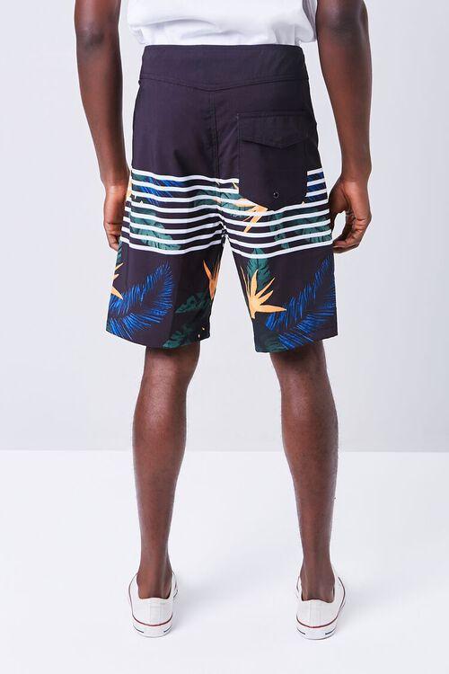 Tropical Striped Swim Trunks, image 4