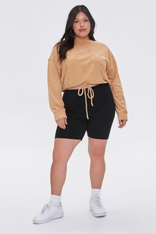 Plus Size French Terry Drawstring Pullover, image 4