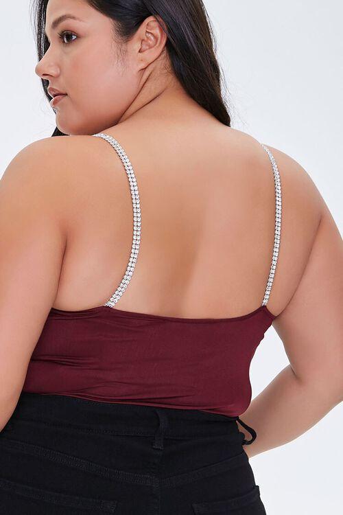 Plus Size Rhinestone Bodysuit, image 3
